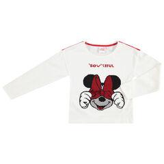 Μακρυμάνικη μπλούζα ζέρσεϊ με τη Minnie της Disney από «μαγικές» πούλιες