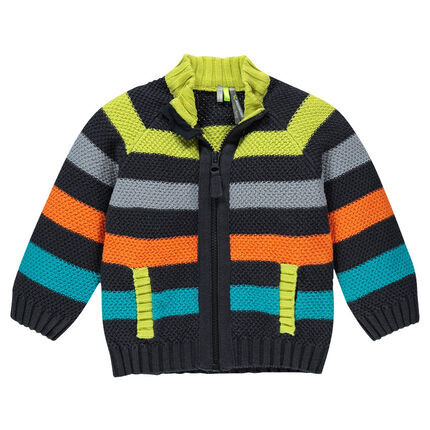 Gilet en tricot fantaisie rayé
