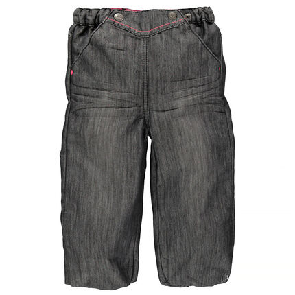 Jeans forme boule à taille élastiquée