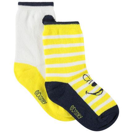 Σέτ 2 ζευγάρια κάλτσες με σχέδιο ζακάρ  Mickey Disney