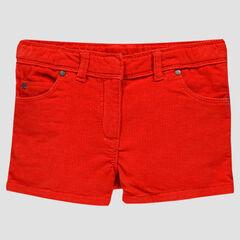 Short rouge en velours milleraies