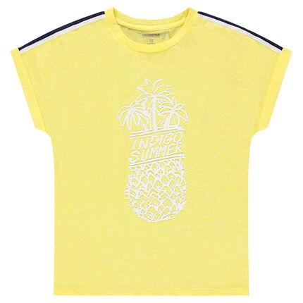 Παιδικά - Κοντομάνικη μπλούζα με στάμπα ανανά