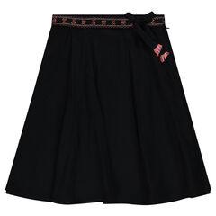 Παιδικά - Άνετη φούστα μεσαίου μήκους με κεντήματα