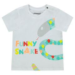 3a0b70e31446 Κοντομάνικη μπλούζα με τυπωμένο ζωάκι