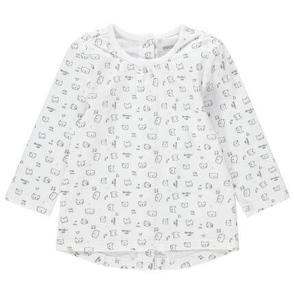 Μακρυμάνικη μπλούζα με φαντεζί μοτίβα