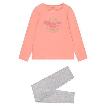 Δίχρωμη ζέρσεϊ πιτζάμα Wonder Woman της ©Warner