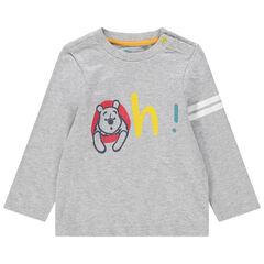 Μακρυμάνικη μπλούζα από βιολογικό βαμβάκι με στάμπα τον Γουίνι της Disney
