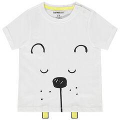 T-shirt manches courtes en coton bio à animal printé