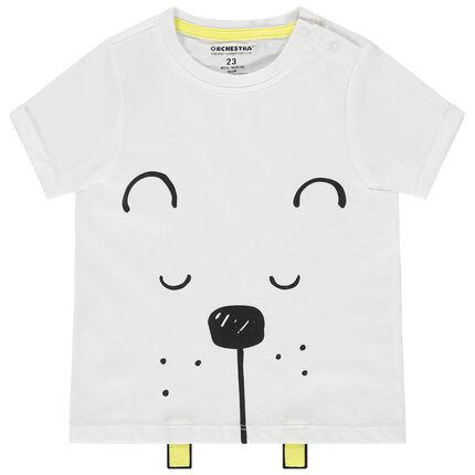 Μπλουζάκι από οργανικό βαμβάκι με animal τύπωμα