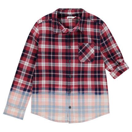 Παιδικά - Μακρυμάνικο πουκάμισο καρό σε ξεβαμμένη όψη