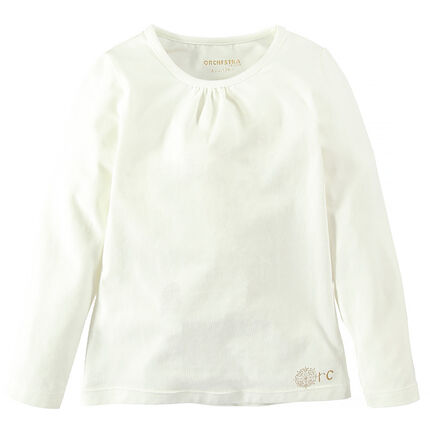 Tee-shirt col rond en coton stretch