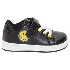 Χαμηλά αθλητικά παπούτσια από συνθετικό δέρμα με αυτοκόλλητο velcro και κοδρόνια ©Smiley