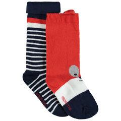 Σετ 2 ζευγάρια κάλτσες με ζακάρ μοτίβο