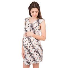 Εμπριμέ φόρεμα εγκυμοσύνης