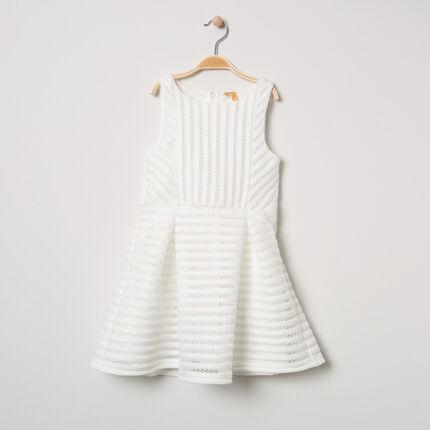 Αμάνικο φόρεμα για ειδικές περιστάσεις από αζούρ πλέξη με επένδυση