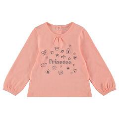 Μακρυμάνικη μπλούζα με τυπωμένα σύμβολα και μήνυμα