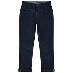 Pantalon slim en satin de coton