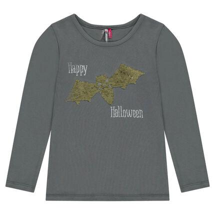 Μπλούζα halloween με στάμπα νυχτερίδα και «μαγικές» πούλιες