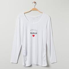 T-shirt de grossesse manches longues à message printé  , Prémaman