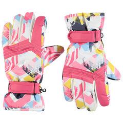 Junior - Gants de ski à imprimés géométriques