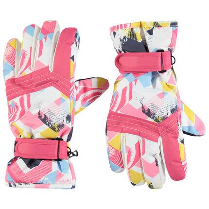 Παιδικά - Γάντια του σκι με γεωμετρικά μοτίβα