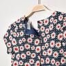 Κοντομάνικο εμπριμέ φόρεμα με φλοράλ μοτίβο