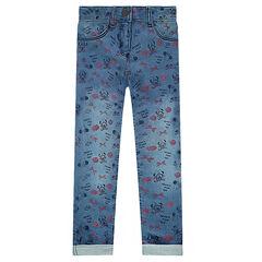 Παντελόνι-κολάν από φανέλα με used όψη ©Disney και εμπριμέ μοτίβο τη Μίνι