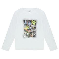 Παιδικά - Μακρυμάνικη μπλούζα από ζέρσεϊ με διακοσμητική στάμπα