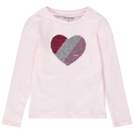 Μακρυμάνικη ζέρσεϊ μπλούζα με μοτίβο από «μαγικές πούλιες»