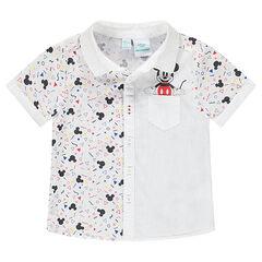 Κοντομάνικο πουκάμισο με στάμπα Μίκυ της ©Disney