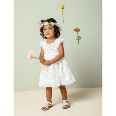 Κοντομάνικο φόρεμα για ειδικές περιστάσεις από τούλι με φλοράλ κεντήματα , Pomme Framboise
