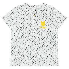 Κοντομάνικη μπλόυζα ζέρσεϊ με μοτίβο σε όλη την επιφάνεια και στάμπα Γουίνι το αρκουδάκι της ©Disney