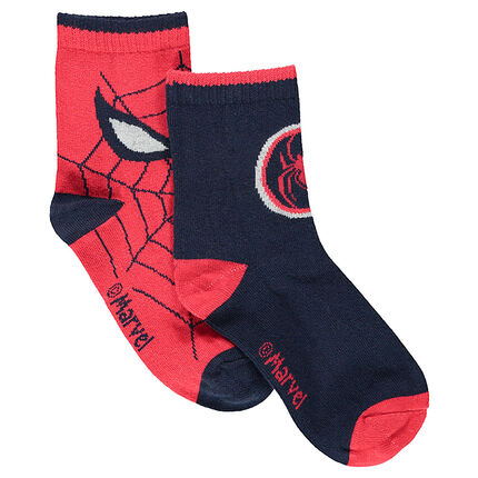 Σετ 2 ζευγάρια ασορτί κάλτσες με ζακάρ μοτίβο Spiderman της ©Marvel