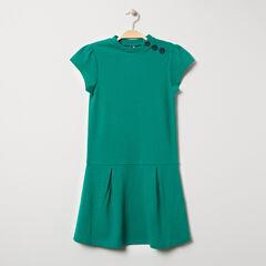 Παιδικά - Κοντομάνικο φόρεμα με λαιμόκοψη με κουμπιά