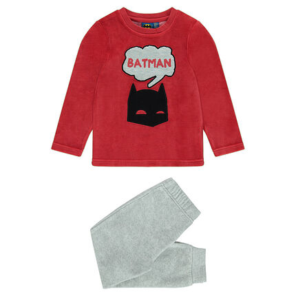 Πιτζάμα βελουτέ δίχρωμη BATMAN