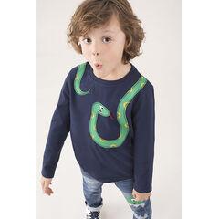 Μακρυμάνικη ζέρσεϊ μπλούζα με μοτίβο φίδι