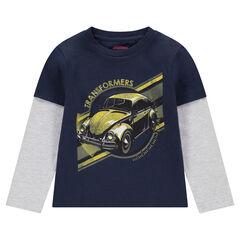 Μακρυμάνικη μπλούζα 2 σε 1 με στάμπα ©Transformers