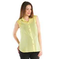 Chemise manches courtes de grossesse avec dentelle