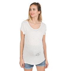 Κοντομάνικη μπλούζα εγκυμοσύνης με φαντεζί τύπωμα