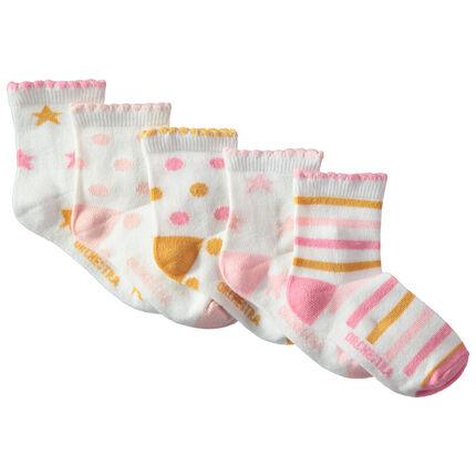 Σετ 5 ζευγάρια κάλτσες με χρωματιστά μοτίβα