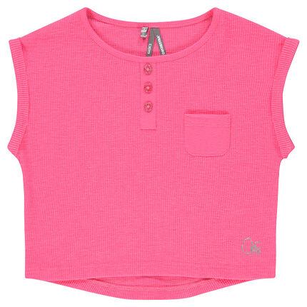 Junior - Tee-shirt court manches courtes côtelé