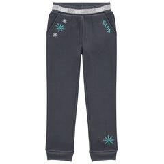 Pantalon de jogging en molleton broderie Elsa Reine des neiges Disney