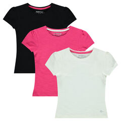 Παιδικά - Σετ με 3 μονόχρωμες κοντομάνικες μπλούζες