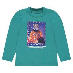 Μπλούζα από ζέρσεϊ με φαντεζί τύπωμα