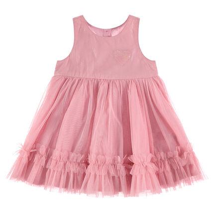 Αμάνικο φόρεμα από τούλι με καρδούλα από πούλιες