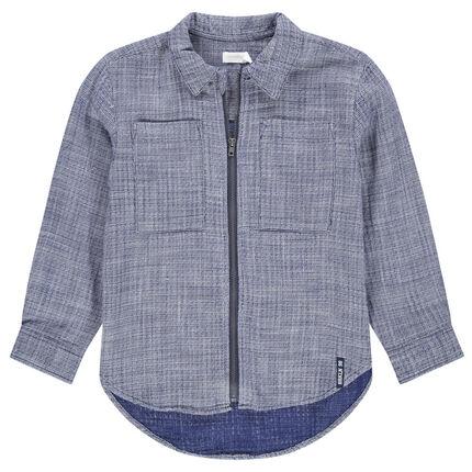 Μακρυμάνικο πουκάμισο με φερμουάρ