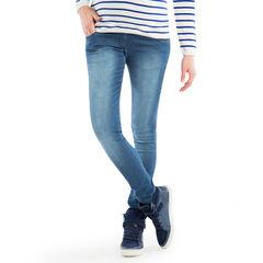 Jeans de grossesse coupe slim effet used
