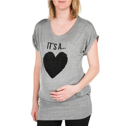 Κοντομάνικη μπλούζα εγκυμοσύνης με μήνυμα «It's a Girl»
