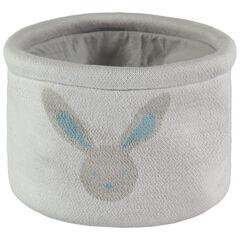 Panier derangement tricoté en coton motif lapin