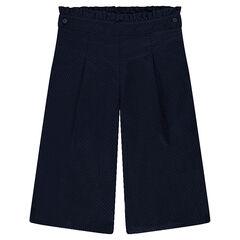 Φαρδύ παντελόνι από βαμβακερό ύφασμα με ανάγλυφη ύφανση